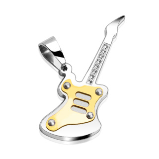 316L Stainless Steel Guitar Pendant